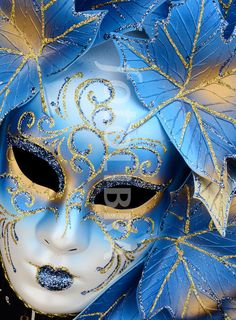 Blue Venice carnival mask...close enough to makeup xD