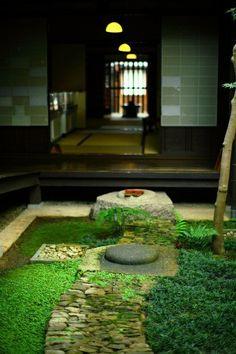 jardin avec déco originale