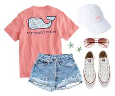 """Casual Summer"" by caelia-nautia on Polyvore featuring Vineyard Vines, Converse and Lilly Pulitzer"