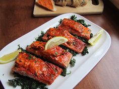 Loaves n Dishes: TOMATO PARMESAN SALMON with SAUTEED KALE