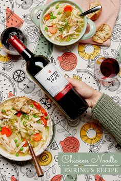 This isn't grandma's chicken soup recipe, but she'd love it, especially when paired with our Sutter Home Red Blend.