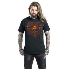 "Classica T-Shirt uomo nera ""Horned Skull"" dei #Pantera."
