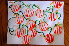 Pumpkin Patch Art from I <3 Crafty Things