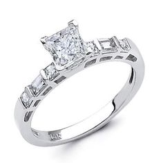 Engagement Rings Simple   14k White Gold Wedding Engagement Ring  Size 9 *** Want to know more, click on the image. Note:It is Affiliate Link to Amazon.