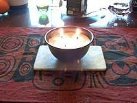 Feuerschale mit Kerzenresten selbst machen