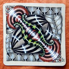 "Lily's Tangles: Diva's Weekly Challenge #221: ""Beads of Courage"" and my weekly tiles."