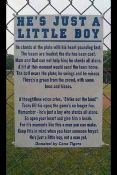 I wish my dad would put these up at every gym and ball park. Parents can be awful at the games....