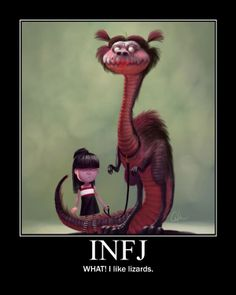 INFJs strange enthusiams seem perfectly normal to them until someone points out the obvious. Fortunately, they soon forget to care that they have strange interests, and continue, either unapologetically or obliviously, onward.