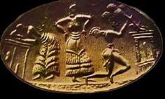 Minoan dancers – gold signet ring