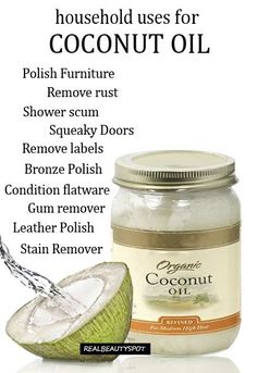 10 household uses for coconut oil - cleaning with coconut oil Massage: + 2 gtts peppermint or lavender EO
