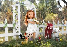 Introducing Lottie and her Farmyard Friends All American Girl Dolls, American Girl Parties, American Girl Crafts, American Doll Clothes, Og Dolls, Barbie Wedding Dress, Doll Tattoo, Doll Clothes Barbie, House Photography