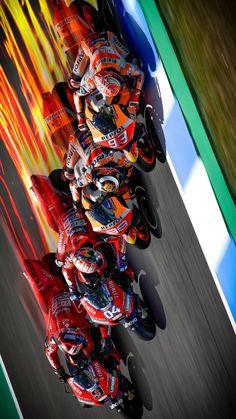 MotoGP 🇮🇹 2019 :: Arranca la Mucha suerte a todos. Gp Moto, Moto Bike, Motorcycle Art, Marc Marquez, Valentino Rossi, Grand Prix, Motorbike Leathers, Custom Sport Bikes, Bike Pic