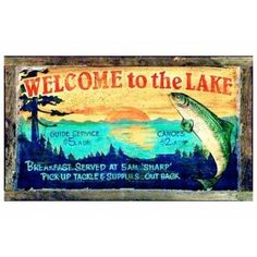 Lake Lodge Sign - Personalized | Custom Cabin Signs | Antlers Etc - Rustic Cabin, Lodge & Hunting Decor