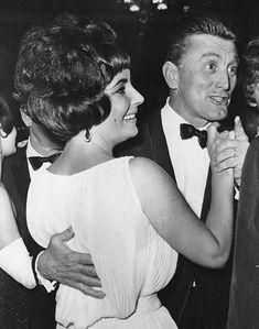 Kirk Douglas and Elizabeth Taylor