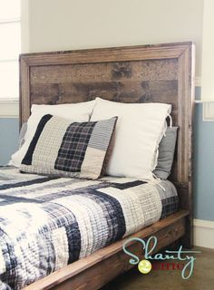DIY Hailey Planked Headboard - details instructions