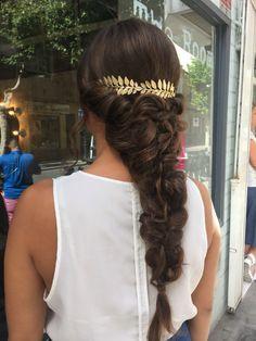 Romantic braid hairdo