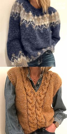 Ways To Wear A Scarf, How To Wear Scarves, Casual Work Outfits, Fall Outfits, Fashion Outfits, Mohair Sweater, Nordic Sweater, Knit Fashion, Womens Fashion
