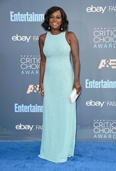 Viola Davis in Michael Kors attends The 22nd Annual Critics' Choice Awards at Barker Hangar on December 11, 2016 in Santa Monica, California.