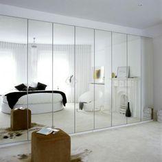 White mirrored bedroom | Bedroom decorating ideas | Storage | housetohome.co.uk | Mobile