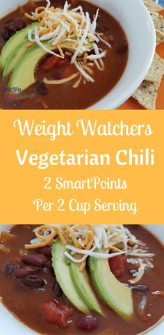 Instant Pot Vegetarian Weight Watchers Chili is a great meal ideal that everyone will enjoy! A perfect Meatless Monday dish ready in just minutes! Weight Watchers Chili, Weight Watchers Vegetarian, Weight Watchers Meal Plans, Weight Watcher Dinners, Weight Watchers Chicken, Vegetarian Chili, Vegetarian Lunch, Vegetarian Recipes, Healthy Recipes