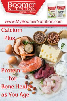Healthy Aging - Calcium Plus Protein for Bone Health as You Age - Boomer Nutrition Bone Health, Health Diet, Health Foods, Balanced Diet Plan, Acidic Foods, Strong Bones, Processed Sugar, Fatty Fish