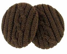 Brown Cable Knit Earbags Now in beautiful cable knit, our patented cozy fit…