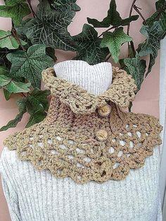 Crochet Pattern neckwarmer collar  scarf  num 179, CARMELLA ..Romantic Neckwarmer,  Beginner level,make it and sell it. $4.99, via Etsy.