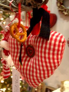 Corazón vichy & bretzl. Navidad en Made in Charme