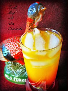 Wild Turkey Thanksgiving Cocktail Recipe, end your Thanksgiving dinner with a toast for more good things to come with this sweet cocktail #t...