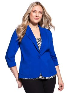 I love cobalt #plussize from eloquii by The Limited