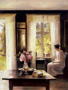 Interior, Light of Spring. Carl Holsøe (Danish, Oil on canvas. Interior, Light of Spring epitomizes the effects for which Holsøe is most celebrated: an atmosphere that is dense,. Paintings I Love, Beautiful Paintings, Art Moderne, Love Art, Impressionism, Painting & Drawing, Art History, Modern Art, Art Gallery