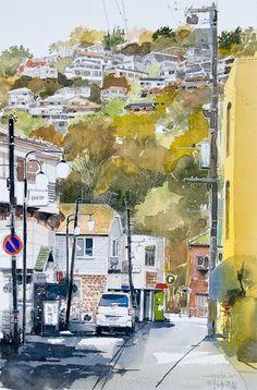Artimañas: MASATO WATANABE - Acuarelista japonés - Watercolor - Maestro de la perspectiva