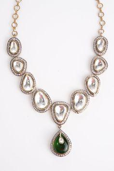 Green Drop Necklace — Vasundhara Mantri — Necklaces | Indianhanger.com