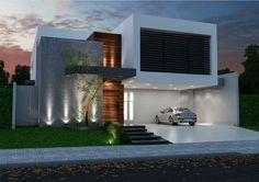 Home | Fernando Farinazzo Arquitetura House Front Design, Modern House Design, Contemporary Architecture, Architecture Design, Design Exterior, Facade House, Design Case, Building A House, House Plans