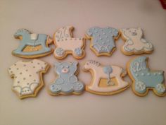 Baby boy shower cookies wot I made