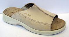 ECCO Beige Nubuck Slide Sandal Size 39/US 8-8.5 #Ecco #Slides