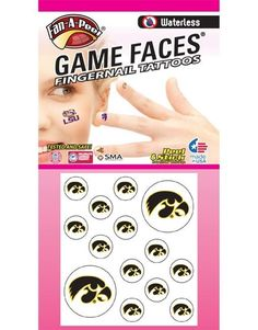 University of Iowa (UI) Hawkeyes – Waterless Peel and Stick Temporary Fingernail Tattoos – 12 Fingernail Tattoos and 2 Spirit Tattoos -- Want additional info? Click on the image. (As an Amazon Associate I earn from qualifying purchases) Best Temporary Tattoos, Temporary Tattoo Paper, Temporary Tattoo Sleeves, Face Tattoos, Finger Tattoos, Uw Huskies, Stick Tattoo, Spirit Tattoo, Tattoo Videos