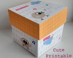 Printable Gift Box Wedding Favor Party favor by DreamingOnAStar