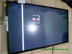 Televisor LG LED 42LN5700-SA, faixa vertical na tela.
