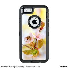 Bee On A Cherry Flower OtterBox Defender iPhone Case