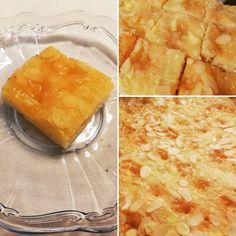 Fluffiger Germ/Hefe Teig mit süßem Marzipan Belag. Ein besonderer Blechkuchen!