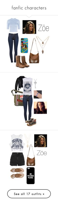 """""""fanfic characters"""" by vic-valdez on Polyvore featuring moda, Frame Denim, Topshop, Converse, Amanda Rose Collection, Effy Jewelry, Billabong, Forever 21, Casetify e beleza"""