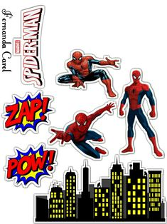 New Birthday Card Template Happy 25 Ideas Spiderman Cupcake Toppers, Spiderman Birthday Cake, Spiderman Movie, Birthday Card Template, Birthday Cards, Printable Banner, Free Printables, Superhero Party, Superhero Room