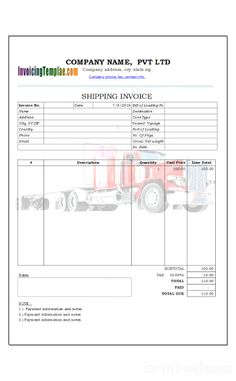 Example Of Commercial Invoice Best Shipping Invoice For Customs  Shipping Sales Invoice In Ms Excel .