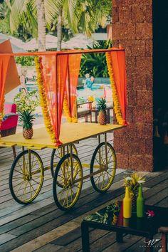 Carts, decor carts , food stalls at mehendi