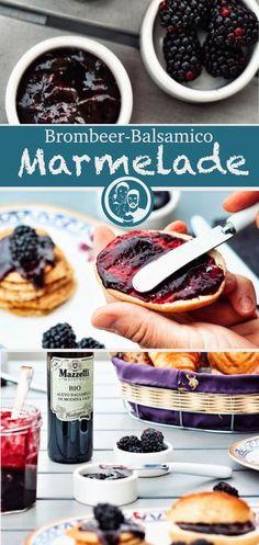 Rezept für eine lecker Brombeere Marmelade verfeinert mit Balsamico!