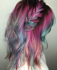 M e r m a i d s are r e a l hair hair styles, dyed hair und Coloured Hair, Dye My Hair, Rainbow Hair, Crazy Hair, Hair Dos, Beauty Trends, Pretty Hairstyles, Perfect Hairstyle, Latest Hairstyles