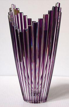 Caesar Crystal - Mikado Vase - Violet --kaynegallery.com-- *beautiful design*