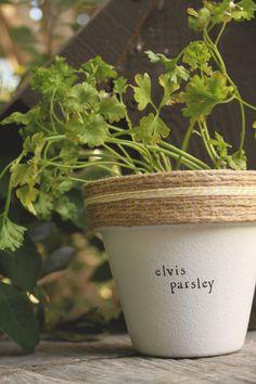 Elvis Parsley by PlantPuns on Etsy