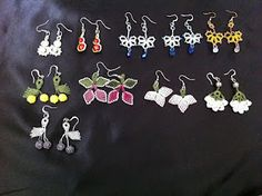 Oya earrings made by me, most of which you can find for sale on my etsy store www.etsy.com/shop/CouchCrochetCrumbs